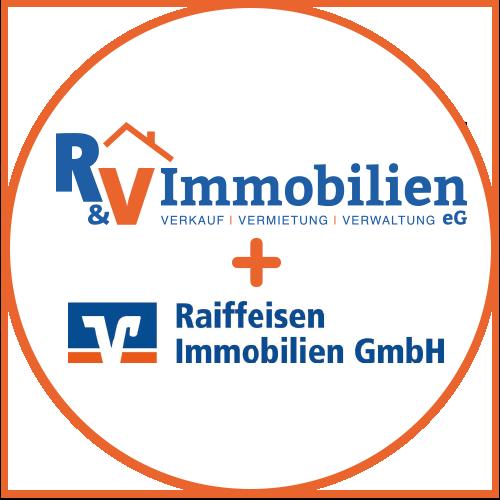 Logo Kombi RV Immobilien + Raiffeisen Immobilien